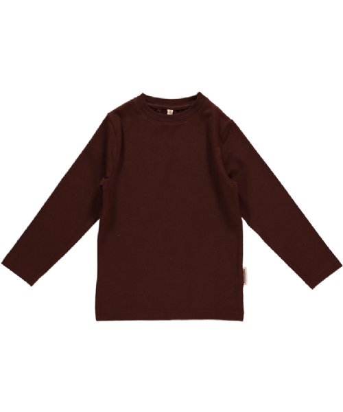 Maxomorra Long Sleeve Top Dark Brown (68, 74)